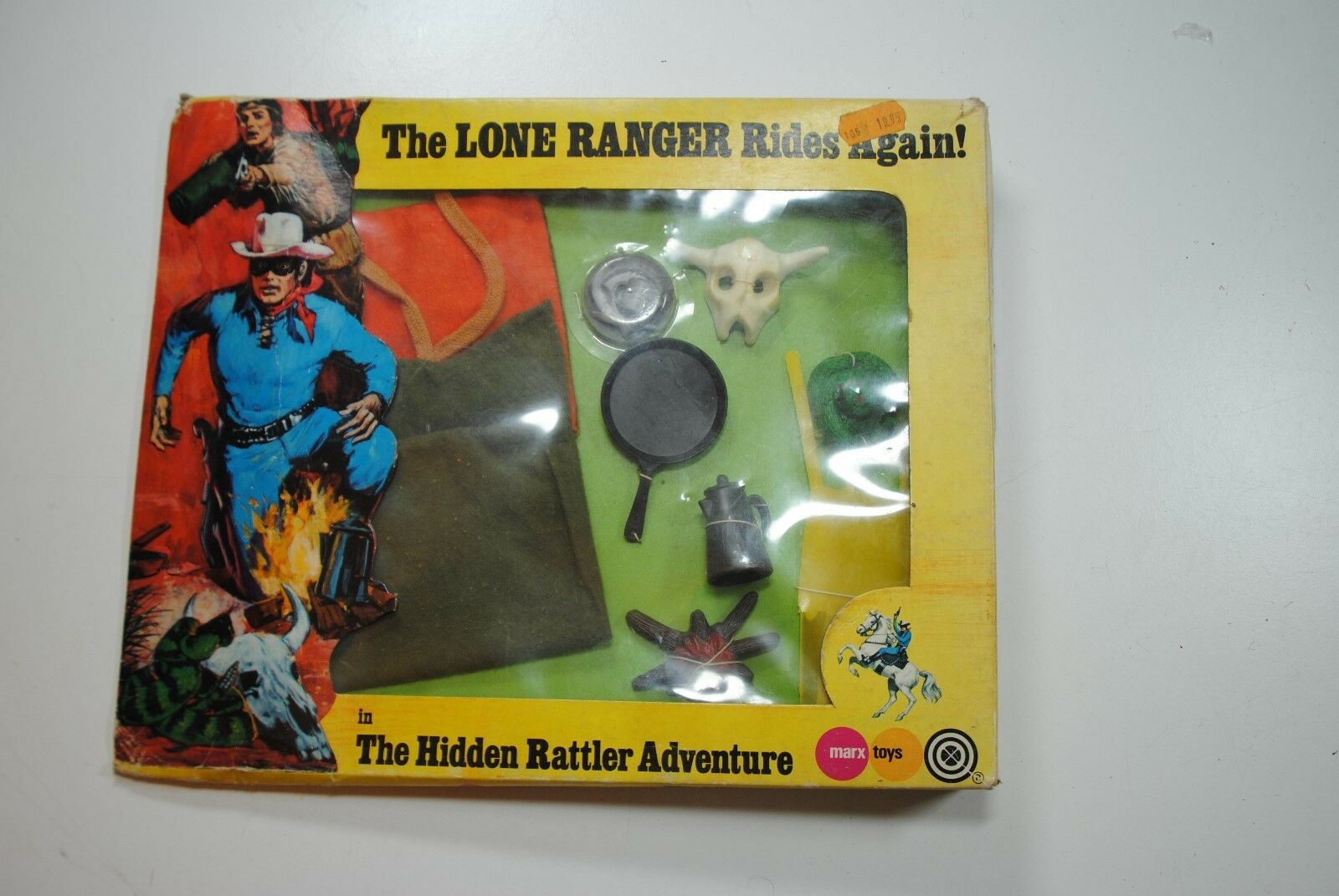THE LONE RANGER RIDES AGAIN MARX GABRIEL   THE HIDDEN RATTLER ADVENTURE    mib