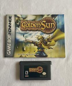 Nintendo-Gameboy-Advance-GBA-Golden-Sun-with-Manual