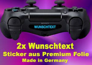 Details Zu 2 Individuelle Wunschtext Sticker Lightbar Aufkleber Ps4 Controller Led