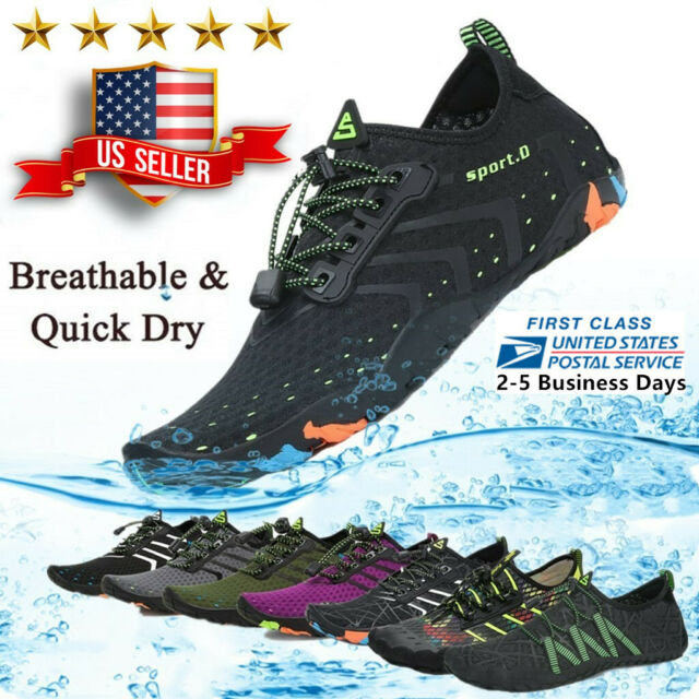 Mens Water Shoes Quick Dry Barefoot for Swim Diving Surf Aqua Sport Beach Shoes