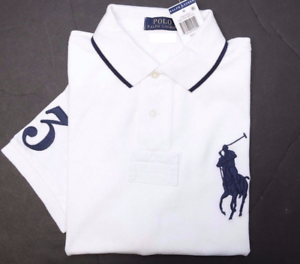 Polo Ralph Lauren Men's Big Pony White Cotton Polo Shirt New big & Tall LT/GL