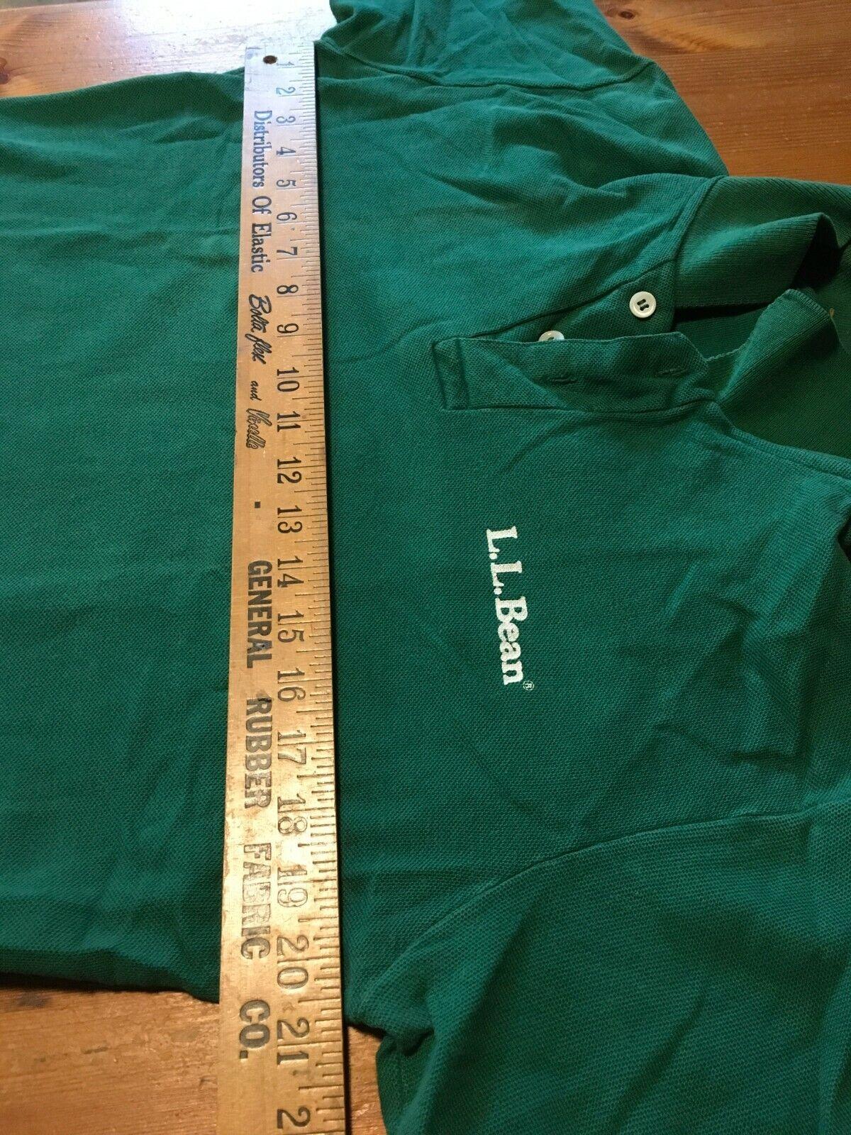 VTG 80s LL Bean Double L Polo Shirt Single Stitch… - image 4