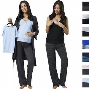ea16c5b7de2f5 HAPPY MAMA Women's Maternity Nursing Pyjama Gown Baby Mama 4pcs ...