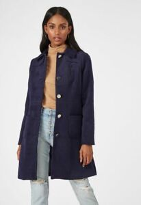 Women-039-s-JUSTFAB-Button-Down-Navy-Blue-Peacoat-Size-XL