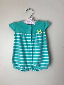 e2cda95c8773 Carters 3 Months Snap-Up Romper Baby Girl Summer Clothes