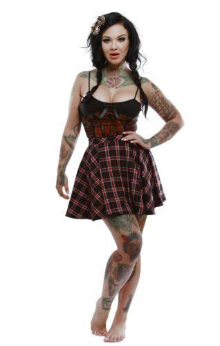 Authentic LUCKY 13 Juliette Skull Girl Juniors Mini Circlet Skirt S-2XL NEW