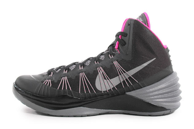 Nike hyperdunk scarpe 599537-005 nero, rosa, grigio, scarpe hyperdunk da basket dimensioni 11,5 f7727d