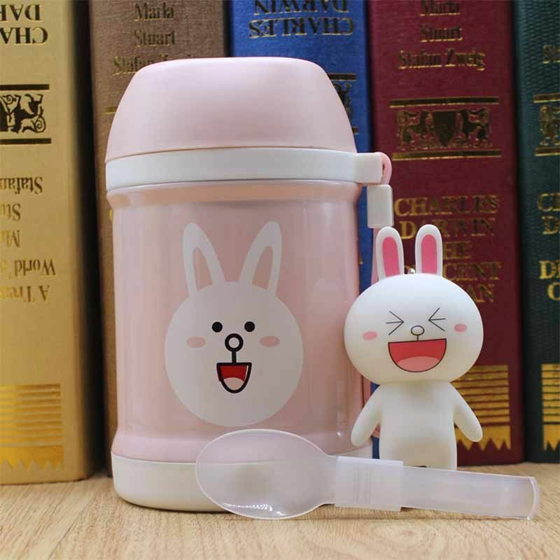Vacuum Thermal Jar Flask Stainless Steel Box Insulated Food Soup Lunch Box