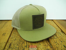 FOURSTAR CLOTHING FOIL TRUCKER SNAPBACK CAP NEU KHAKI 4 STAR CLOTHING