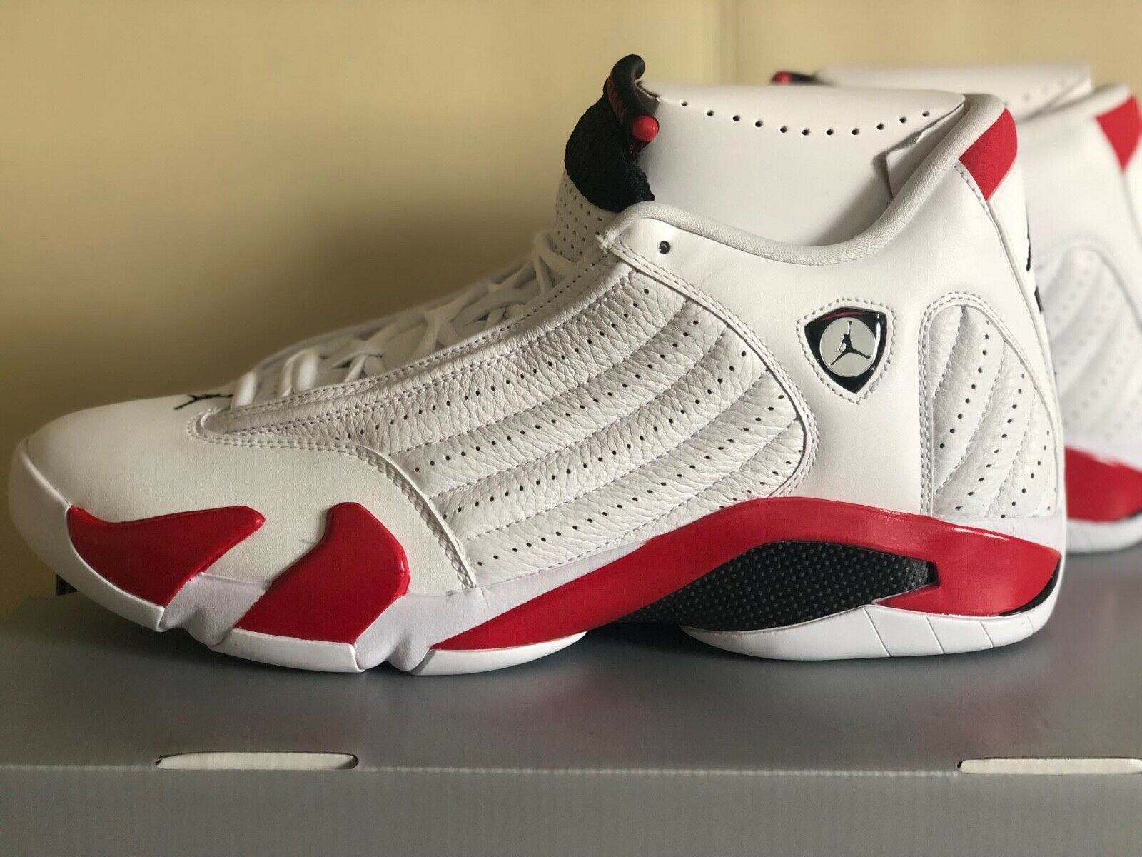 Air Jordan XIV 14 Retro OG Rip Hamilton 487471-100 Candy Cane Basketball shoes
