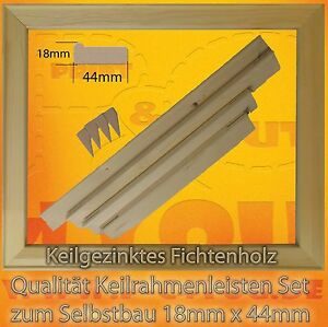 keilrahmenleisten set keilrahmen bausatz 40 cm x 50 cm ohne leinwand ebay. Black Bedroom Furniture Sets. Home Design Ideas