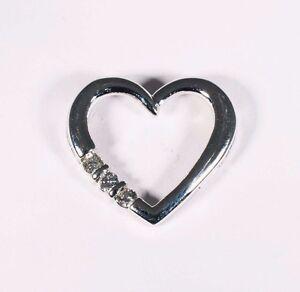 14k white gold heart shaped diamond pendant wapp 14 ct tw ebay la foto se est cargando 14k white gold heart shaped diamond pendant w aloadofball Images