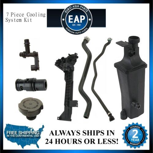 For 323Ci 323i 325Ci 325i 325xi Coolant Tank Thermostat Cap Hose Pipe Kit New