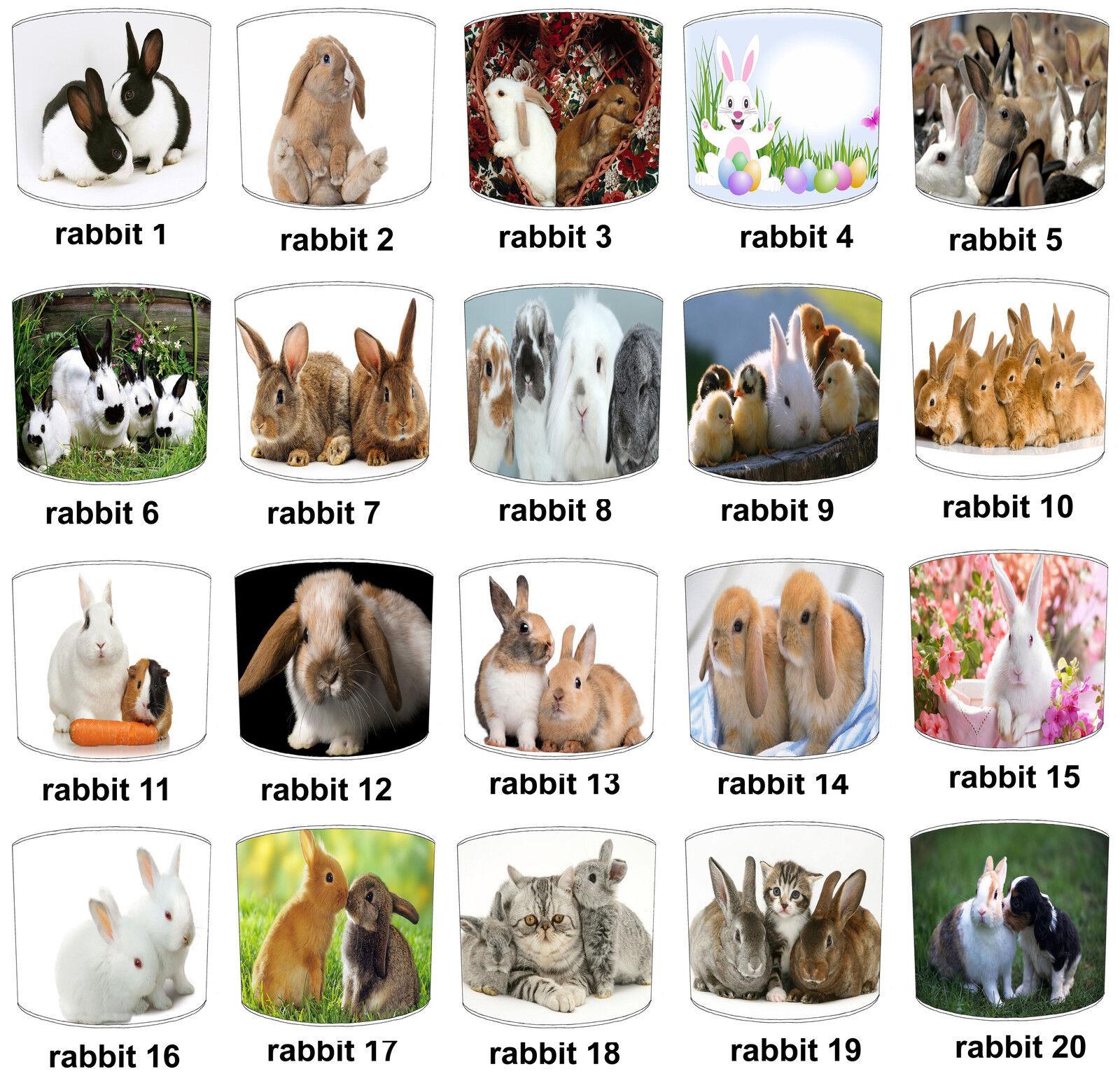 CONIGLI CONIGLI CONIGLI Designs Paralumi Ideale Da Abbinare Bambini'S CONIGLI tappeti e moquette. 1d8a4c