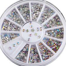 New 6 Style Acrylic Nail Art Tips Crystal Glitter Rhinestone Decoration Wheel L7