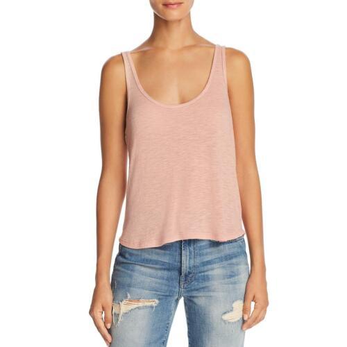 Project Social T Womens Linen Blend U-Neck Summer Tank Top Shirt BHFO 8080