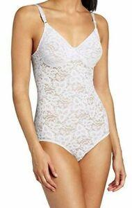 Bali Lace /'N Smooth Body Briefer Shaper UW Cups Sheer Firm Power Wear Women 8L10