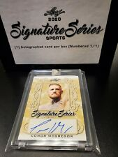 2020 Leaf Signature Series Sports Conor Mcgregor Gold Auto 1/1
