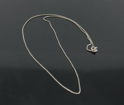 Vintage Sterling Silver Box Snake Chain 18 Inch