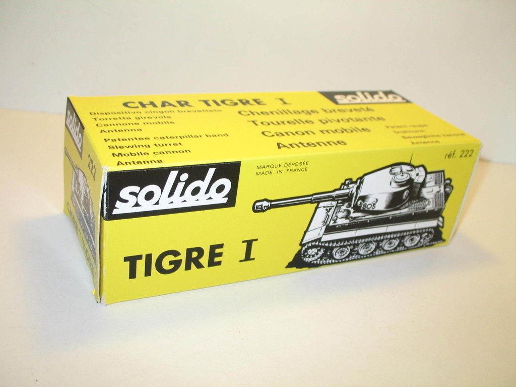 N84, Scatola char TIGRE (kaki o sabbia) militare repro SOLIDO