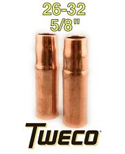 "2 TWECO 23T-37 Tapered 3//8"" Nozzle Fitting Tip for MIG Welding 1230-1300 New"