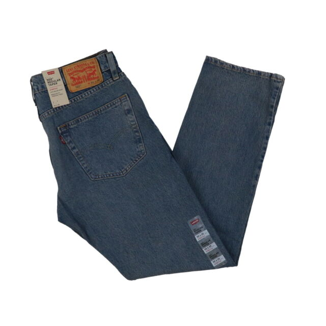 New with Tags 0020 Size W33 L36 Levi/'s 502 Regular Taper Fit Dark Denim