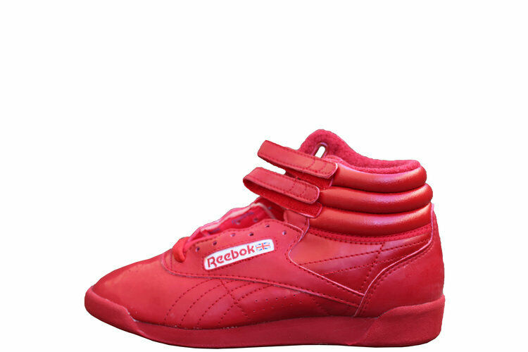 Vintage Women`s Reebok Freestyle Hi 2000 Flame Red Patent Leather DS Size 8