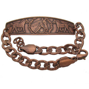 Solid-Copper-Bracelet-Horse-Head-Handmade-Western-Jewelry-Adjustable-Chain-Link