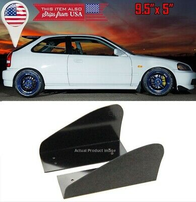 Black Pair Front Bumper Side Lip Splitters Spoiler Winglet Blade Spats For BMW