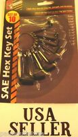 Allen Wrench Standard Hex Key Ring Set Tool 10 Pc