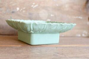 Vintage Gilner Blue Green Seafoam mint Pottery Bowl Planter