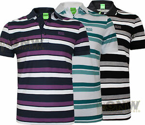 Hugo boss herren gr picard gestreift polo shirt t shirt s for Hugo boss polo shirts xxl