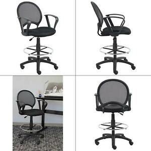 Excellent Details About Black Mesh Drafting Stool With Loop Arms Boss Office Chair Products New Gmtry Best Dining Table And Chair Ideas Images Gmtryco