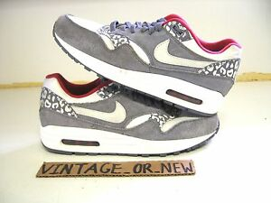 Details over Women's Nike Air Max 1 Leopard Pack 2012 Running Shoes 319986 099 sz 8