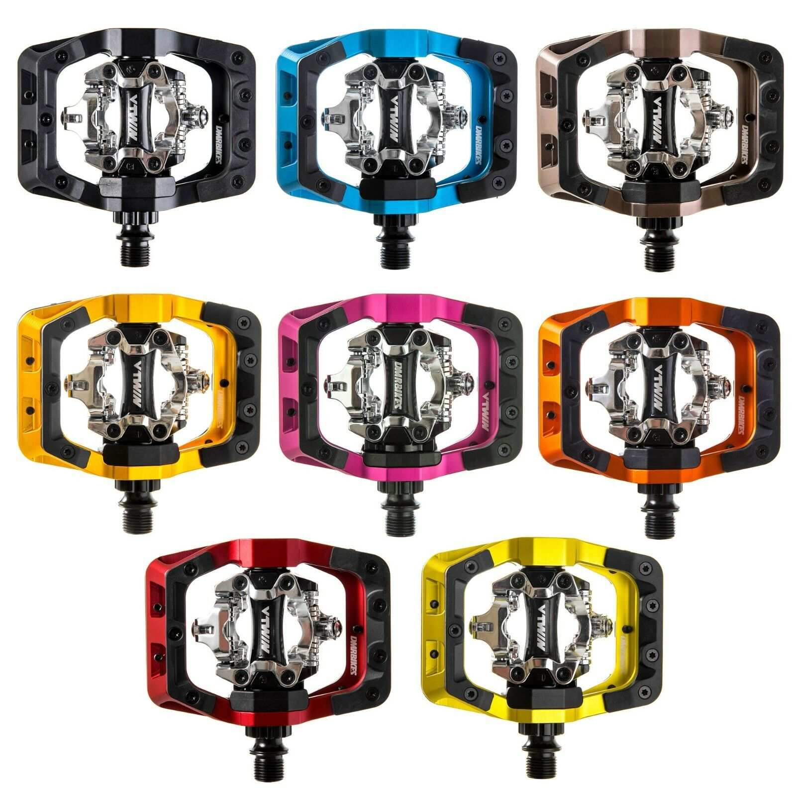 DMR V-Twin SPD Pedals - All Colours - 9  16  Clipless Mountain Bike BMX DH MTB  fast shipping worldwide