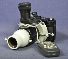 Nikon C 35 + Zeiss Tessovar 1x /0,5x + Bewi Belichtungsmesser / Mikroskop Kamera