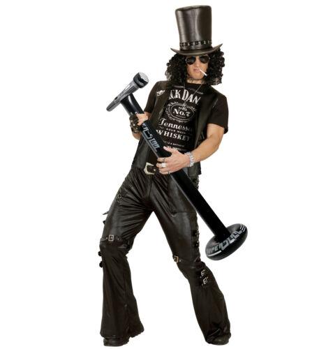 AUFBLASBARES STANDMIKROFON Karneval Party Mikro Musiker Rocker Kostüm Deko 04817