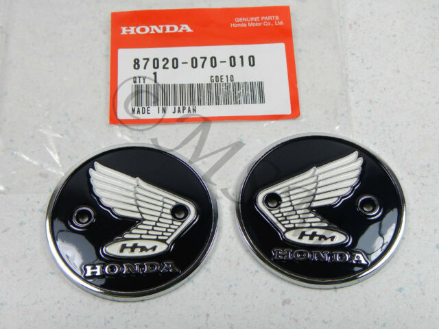 NEW GENUINE OEM HONDA GAS FUEL TANK EMBLEM BADGE SET PAIR 5030-001
