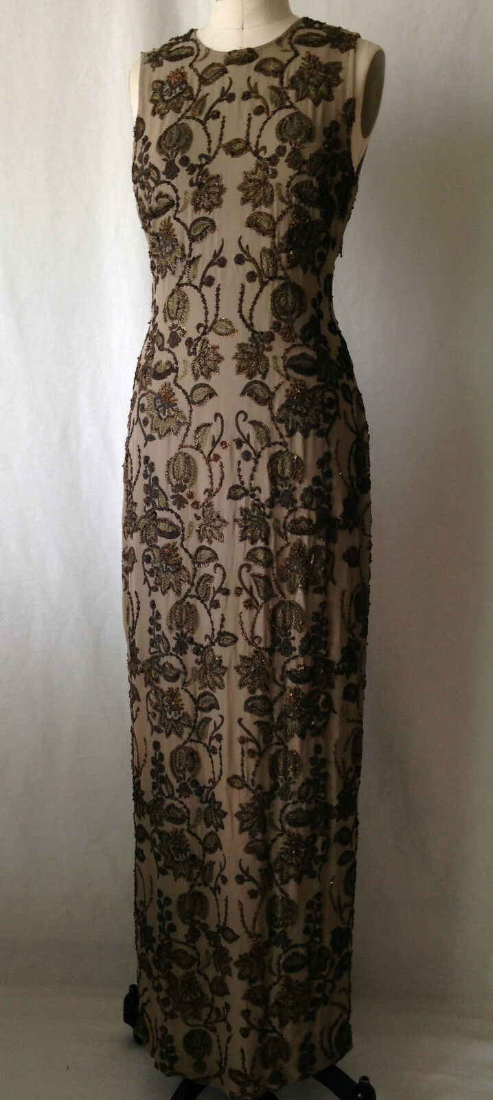 Floor Length Special Occasion Embroidery Dress. Size 4. Mother of the bride.