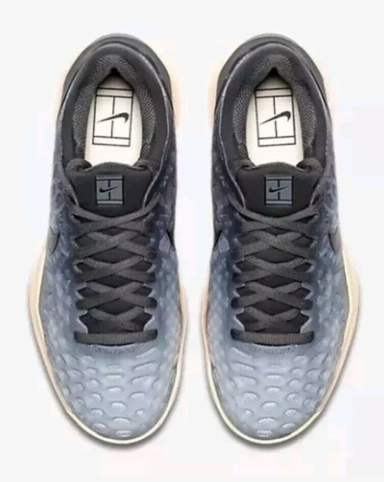 reputable site 47ff0 1d151 Nike Zoom Cage 3 Tennis Shoes 918199-001 Women s US 9 Dark Grey Black for  sale online   eBay
