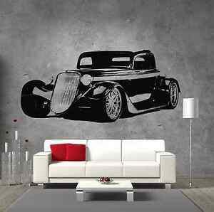 Garage Wall Art ford 1933 classic hot rod street car vinyl sticker wall art boys