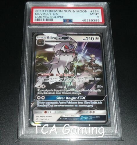 PSA 9 MINT Silvally GX 184//236 SM Cosmic Eclipse Pokemon Card