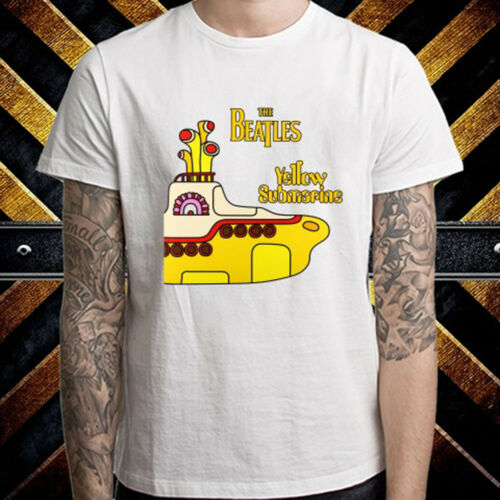 The Beatles Yellow Submarine Rock Band T-shirt blanc homme taille S à 3XL