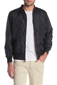 Sovereign Code Mens Jacket Black Size Medium M Flight/Bomber Perforated $98 #138