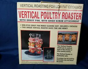 Non Stick Coated Vertical Poultry Turkey Chicken Roaster