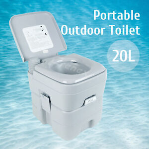 20L Portable Camping Toilet Mobile Site Travel WC Caravan Bucket Outdoor Toilet