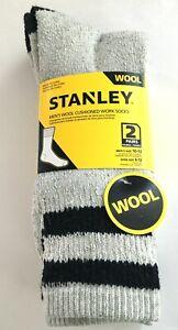 Work Socks Stanley Men/'s Wool Cushioned Size 6-12// 6 pairs 3 Bundles