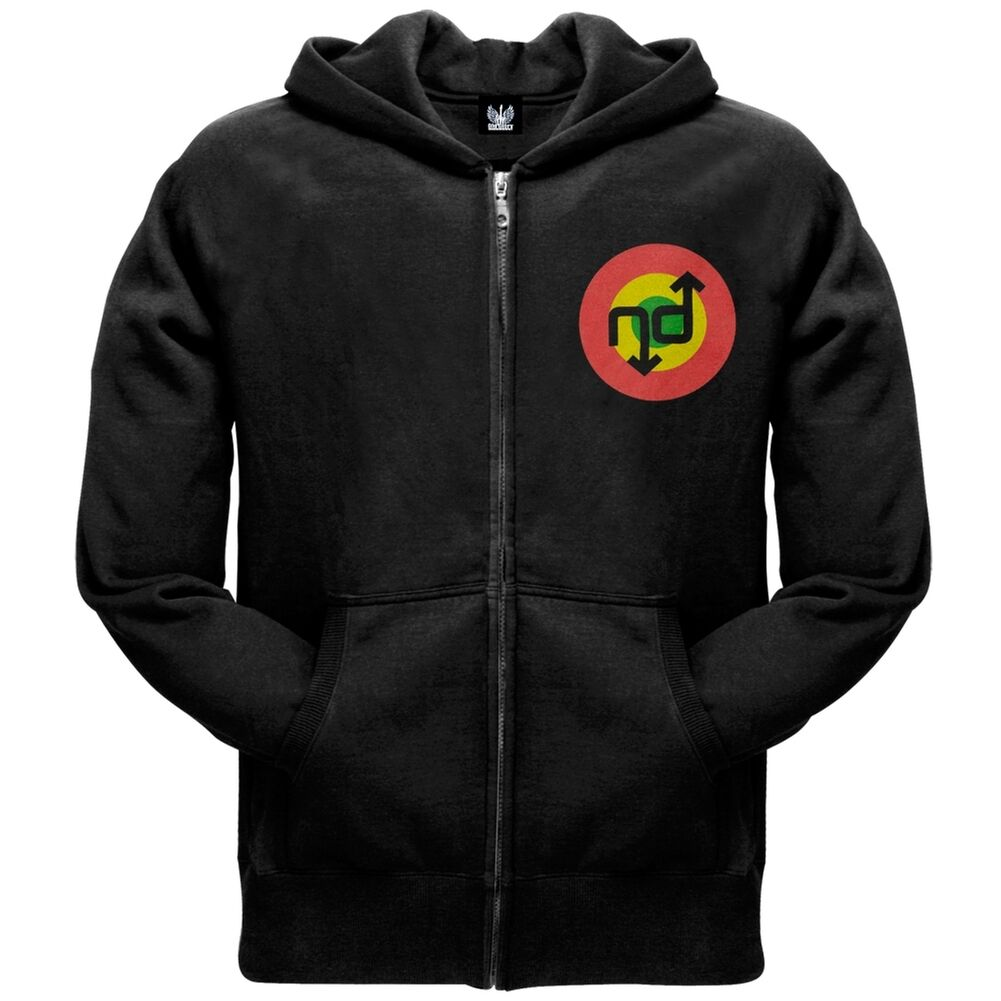No Doubt - Tri-color Logo Zip Men's Hoodie Hooded Sweatshirt