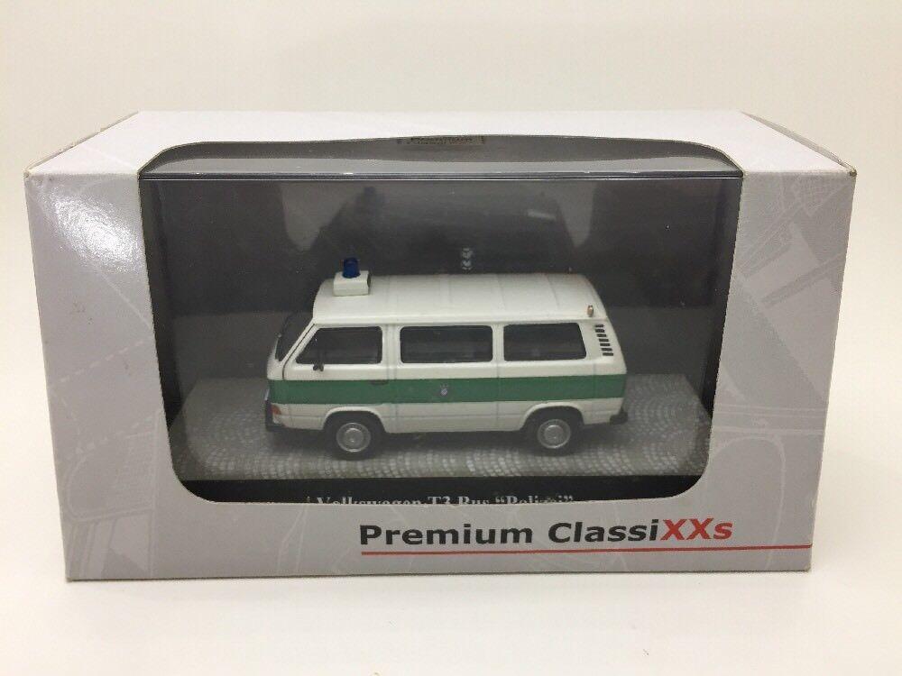 1 Of 500 Rare VOLKSWAGEN T3 BUS POLIZEI PREMIUM CLASSIXXS  1 43 Vhtf