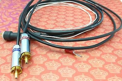 Cardas Belden 1.5 meter Tone Arm Phono Cable 5 pin Male DIN to Vampire Wire RCAs